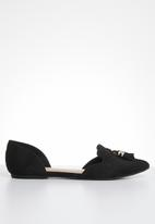Call It Spring - Tassel detail ballerina - black