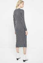 Jacqueline de Yong - Nola stripe dress - navy & white