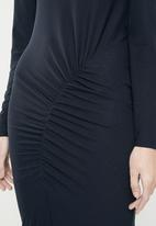 Jacqueline de Yong - Nola stripe dress - navy