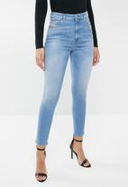 Diesel  - Babhila high cropped jean - blue