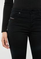 Diesel  - Babhila mid cropped jean - black