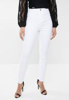 Missguided - Vice high waisted skinny - white