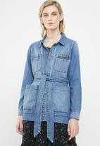 Vero Moda - Kelly belt jacket - blue