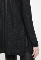 Vero Moda - Mandy wrapover top - black