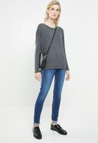 Vero Moda - Malle embellished jersey top - grey