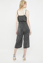 Vero Moda - Wiona cami strap jumpsuit - silver & black