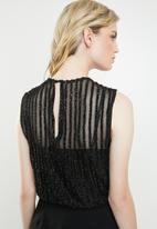 Vero Moda - Shane glitter body jumpsuit - black