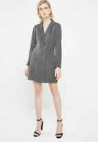 Vero Moda - Glitter blazer long sleeve dress - black & silver