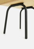 Emerging Creatives - Micasa bedside table - natural & black