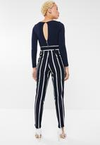 Sissy Boy - Paperbag jumpsuit - navy & white