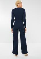 Sissy Boy - Long sleeve jumpsuit with belt - navy