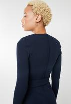 Sissy Boy - Long sleeve jumpsuit with belt - navy