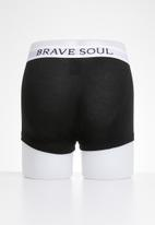 Brave Soul - Clark 3pk Cotton Boxers  - multi