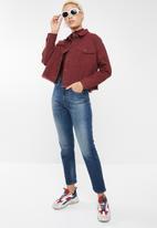 Forever21 - Cropped jacket - burgundy