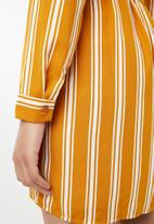 Forever21 - Stripe tie-waist dress - mustard & white