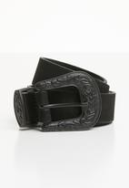 Vero Moda - Pernille suede jeans belt - black