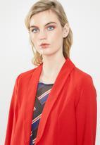 ONLY - Runa longline blazer - red