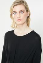 ONLY - Tine long sleeve knot top - black