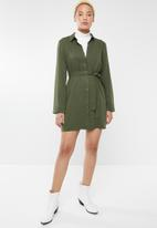 Forever21 - Button up dress - olive