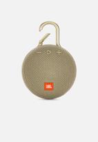 JBL - Clip 3 portable bluetooth speaker - sand