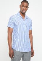 Jack & Jones - Trig short sleeve shirt - blue & white