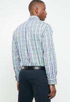 Pringle of Scotland - Jules classic fit shirt - green & blue