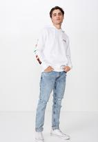 Cotton On - Collab drop shoulder pullover - white