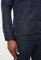 Jack & Jones - Jay quilted overshirt jacket - navy