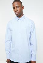 POLO - Custom fit work shirt - blue