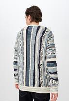 Cotton On - Vintage multi knit - blue & cream
