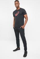 ASICS - GPX short sleeve top - black & red