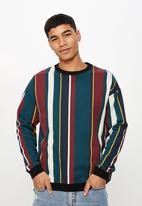 Cotton On - Drop shoulder crew neck sweater - multi