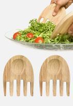 Sagaform - Oak hands salad utensils