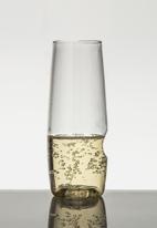 Govino - Plastic champagne picnic glasses - set of 4