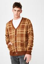 Cotton On - Combi cardi - brown