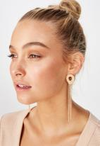 Cotton On - Layla baroque earring - gold & red