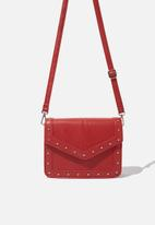 Cotton On - Sim silver studded cross body bag - red