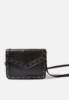 Cotton On - Sim silver studded cross body bag - black