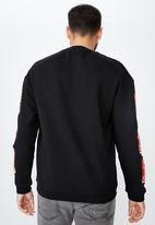 Cotton On - Collab drop shoulder pullover - black