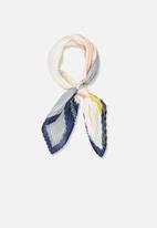 Cotton On - Soho broadway colour block pleat scarf - multi