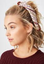 Cotton On - Soho broadway striped pleat scarf - multi