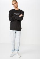 Cotton On - Crew neck fleece sweater 2 - black