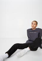 Cotton On - Crew neck fleece sweater 2 - charcoal