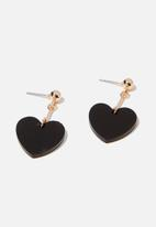Cotton On - Layla romance earring - black & gold
