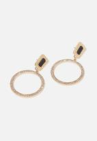 Cotton On - Lucy romance earring - black & gold