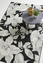 Hertex - Botany outdoor rug - black & white