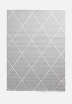 Hertex Fabrics - Criss cross outdoor rug - grey
