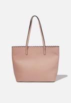 Cotton On - The scalloped edge tote - pink