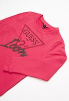 GUESS - Teens long sleeve icon active top - rose
