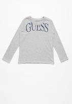 GUESS - Long sleeve guess tee - grey